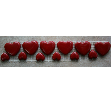 Large and Small Red Heart Charms