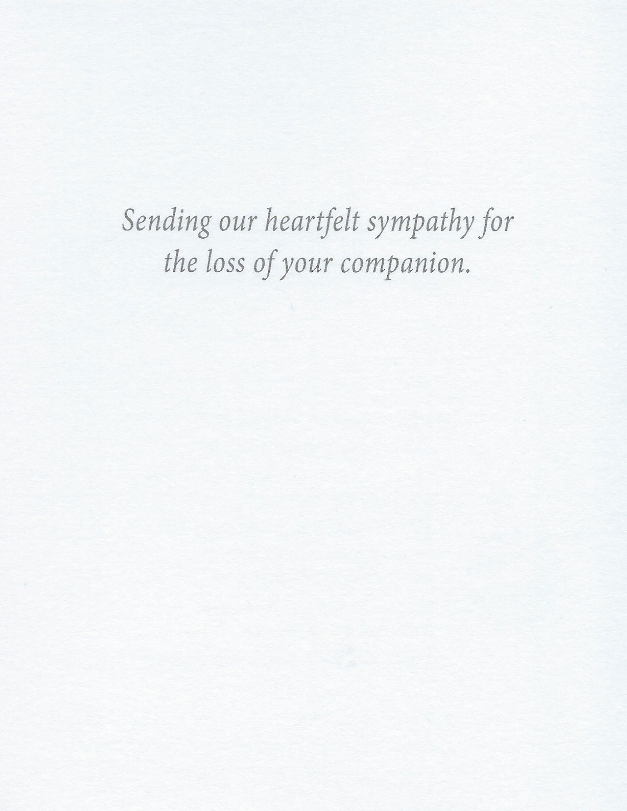 S57 Pet Sympathy Card