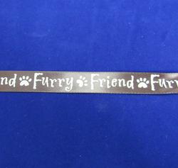 """""""Furry Friend"""" Brown Ribbon"""
