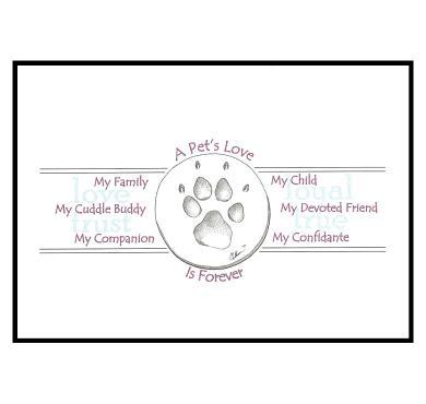 CCAPL Pet Premium Sympathy Card