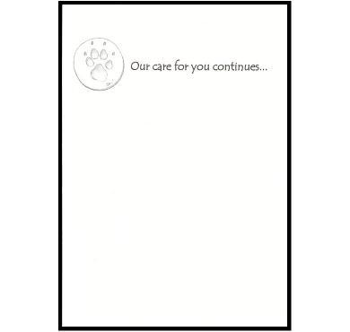 CCHHP Premium Pet Sympathy Card