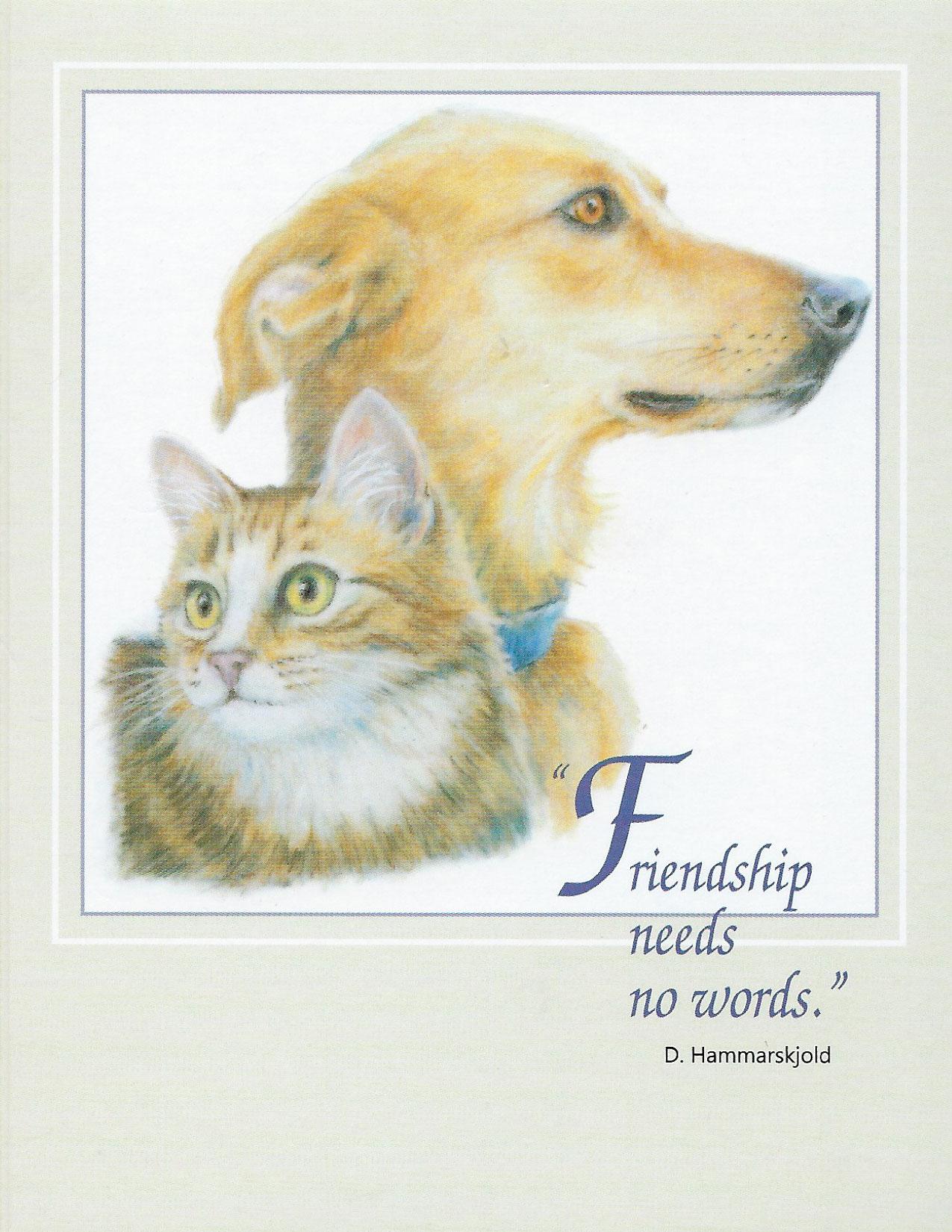 S63 Pet Sympathy Card
