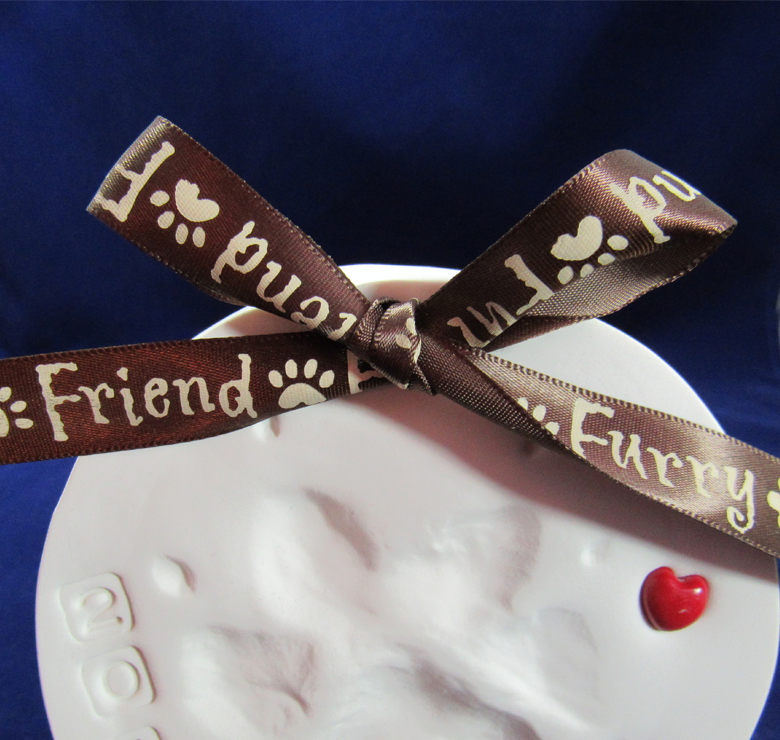 """Furry Friend"" Brown Ribbon"