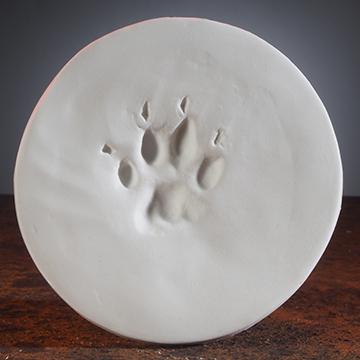 Soft White ClayPaws® Print