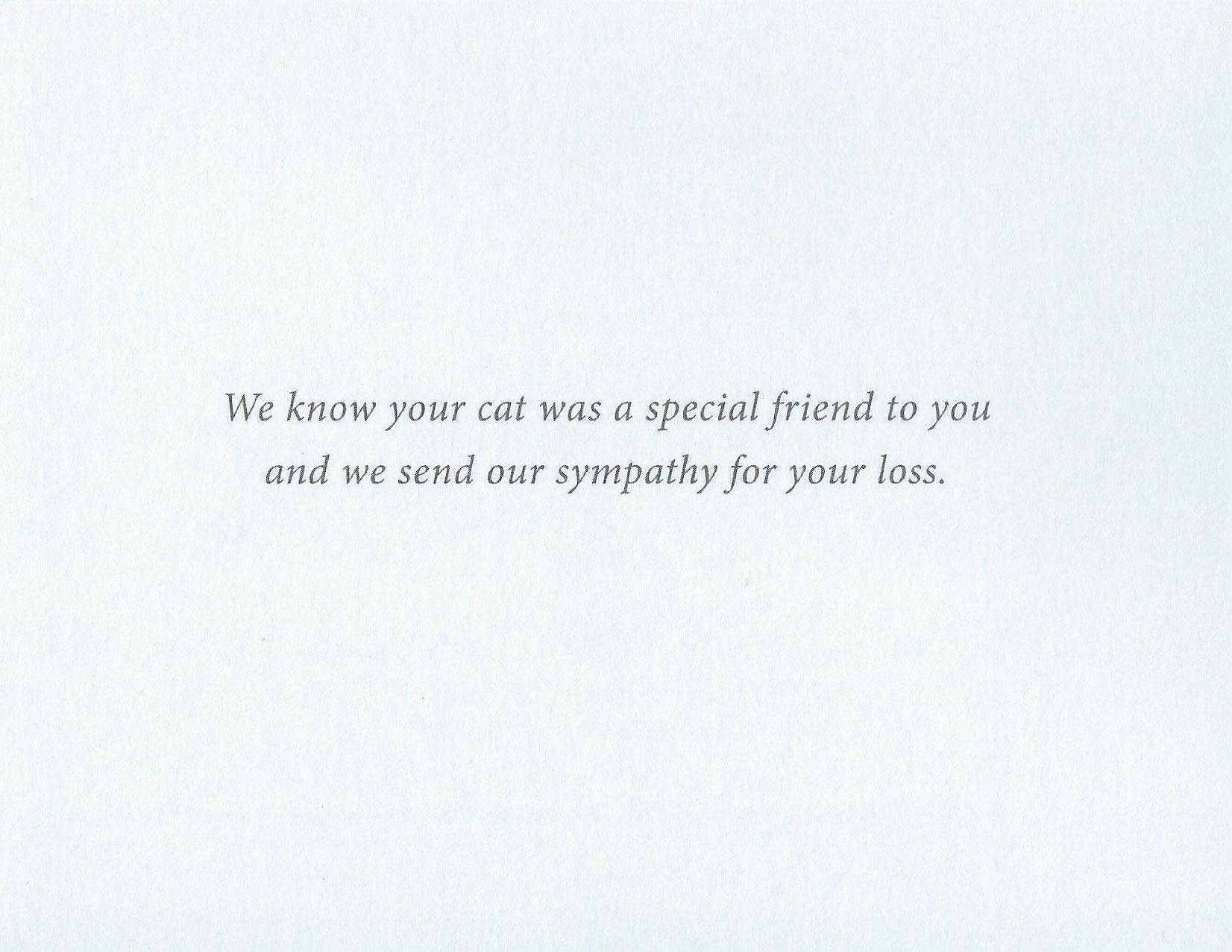 S74 Cat Sympathy Card