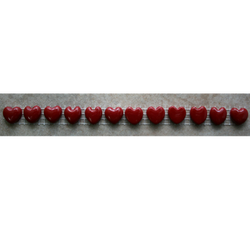 Small Red Heart Charms