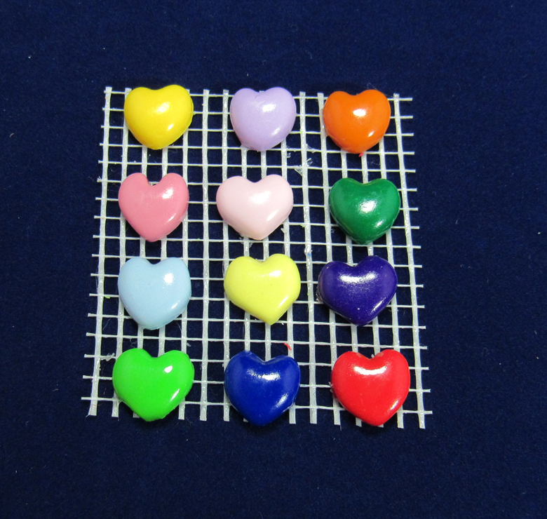Assorted Color Heart Charms