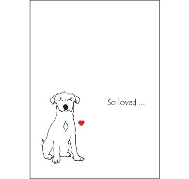 CCDSL Premium Dog Sympathy Card