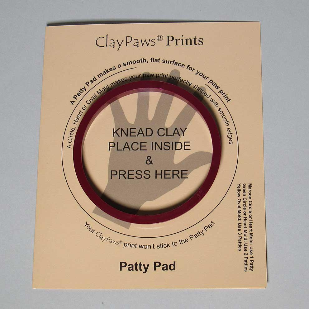 Patty Pad with Maroon Circle Mold