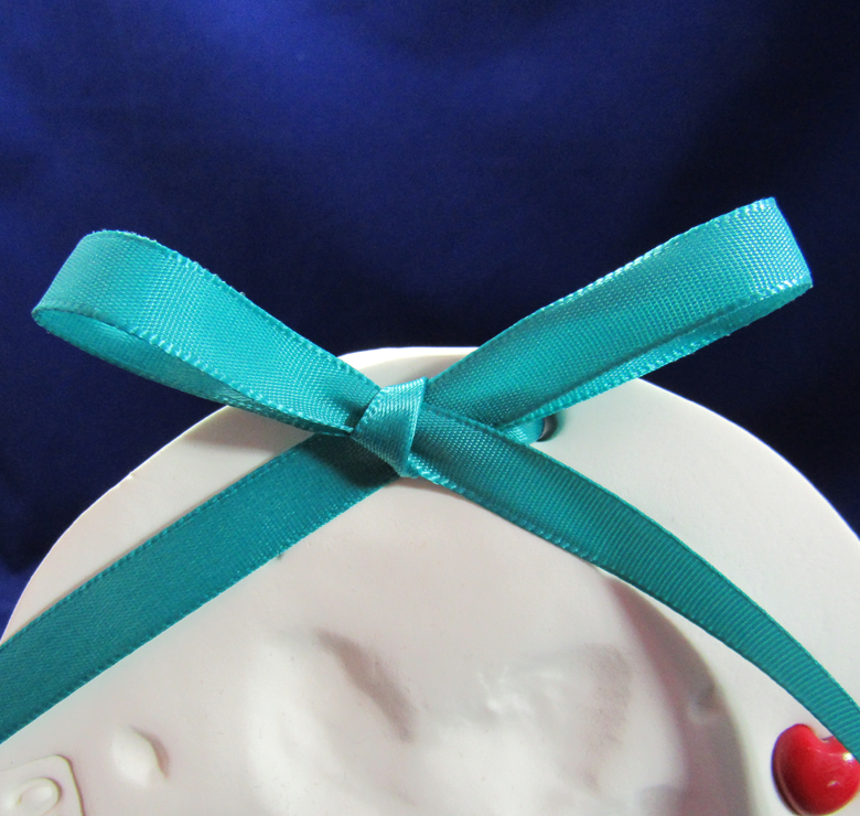Teal Satin Ribbon