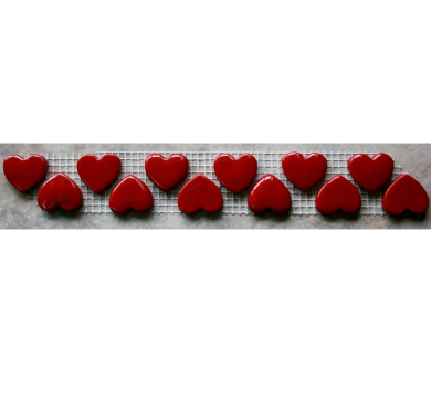 Large Red Heart Charms