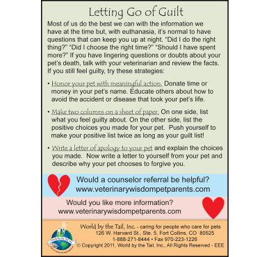 Guilt & Euthanasia Education Encl