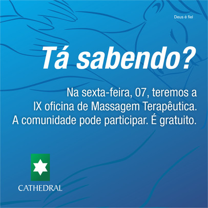 GRATUITO – Estudantes realizam Oficina de Massagem Terapêutica nesta sexta-feira