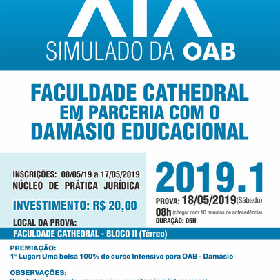 Simulado da OAB será no dia 18 - Inscrição aberta