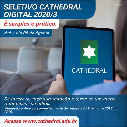Seletivo Cathedral Digital foi prorrogado até 8 de agosto