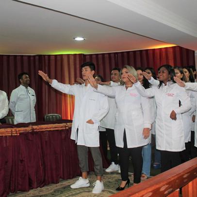 TURMA 2019.2 - Calouros de Odontologia participam da Cerimônia do Jaleco
