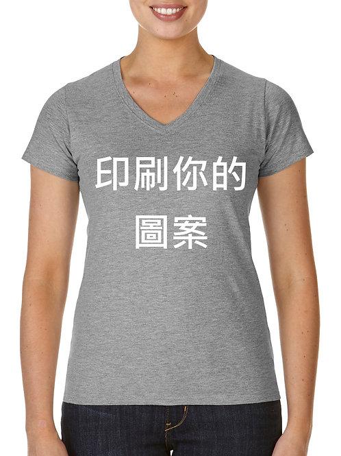 輕質感V領女T恤