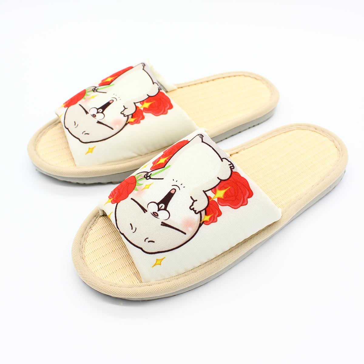 好想兔 草蓆室內拖鞋