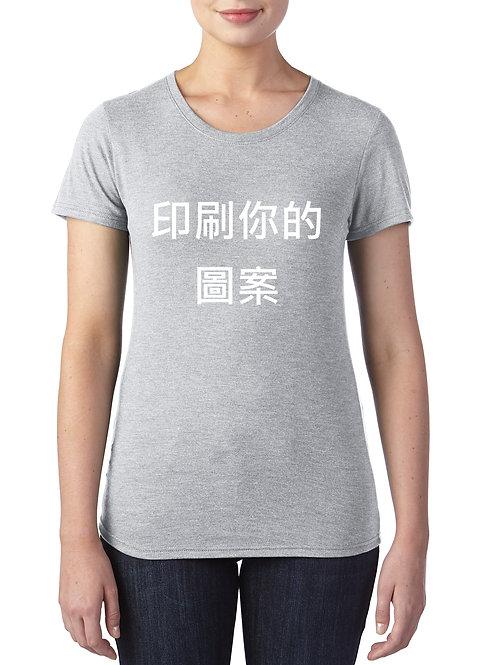 美式輕柔圓弧女T恤