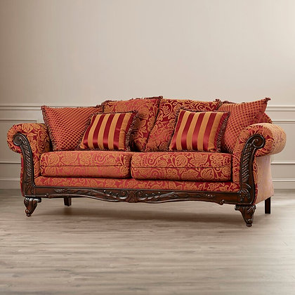 Flared Arm Sofa with Reversible Cushions