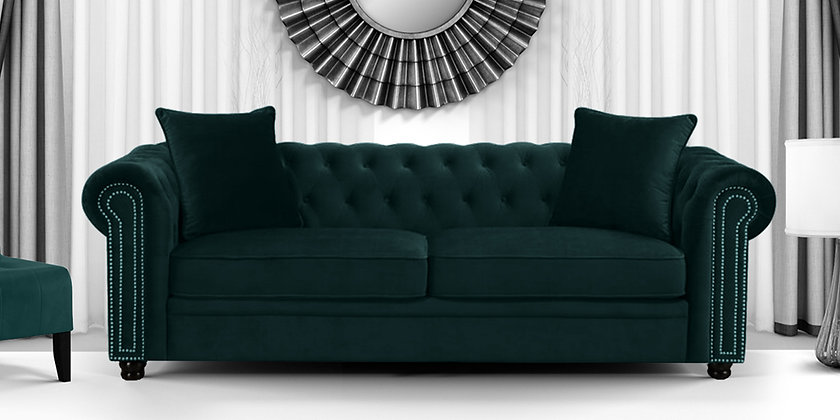 3 Seater Sofa in Green Colour