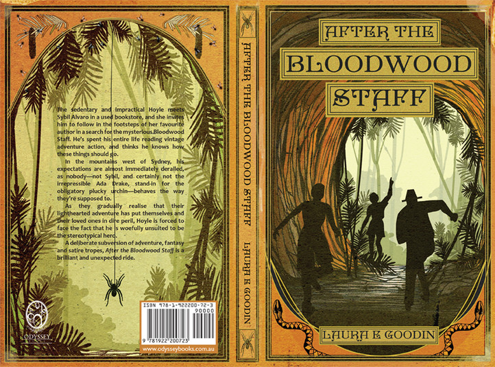 Book cover art for 'After the Bloodwood Staff' by Laura E Goodin