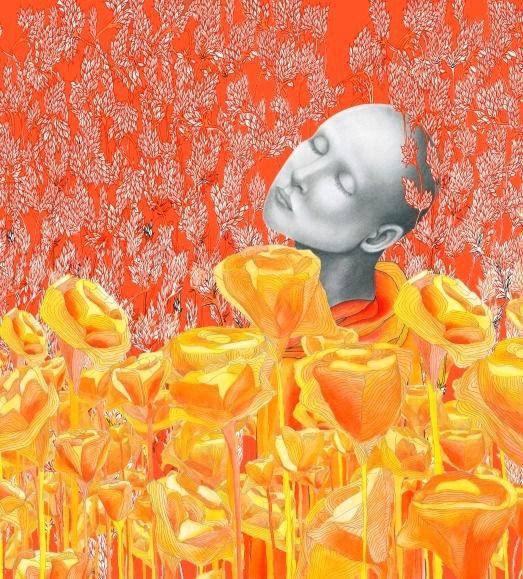 pencil portrait art artwork illustration mother mothers day Rachel Roberts pencil pusher Australian illustrator