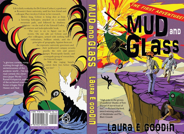 Book cover art for 'Mud and Glass' by Laura E Goodin