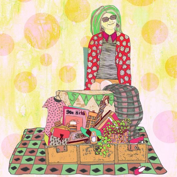 Illustration variation - solo suitcase holder