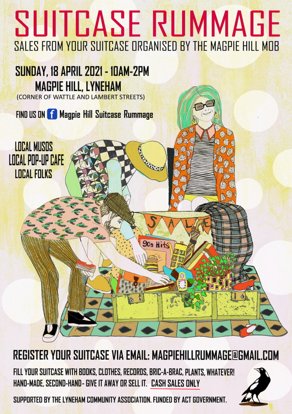 Illustration and design for suitcase rummage