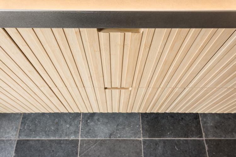 Handgemaakte keuken van bamboe hout