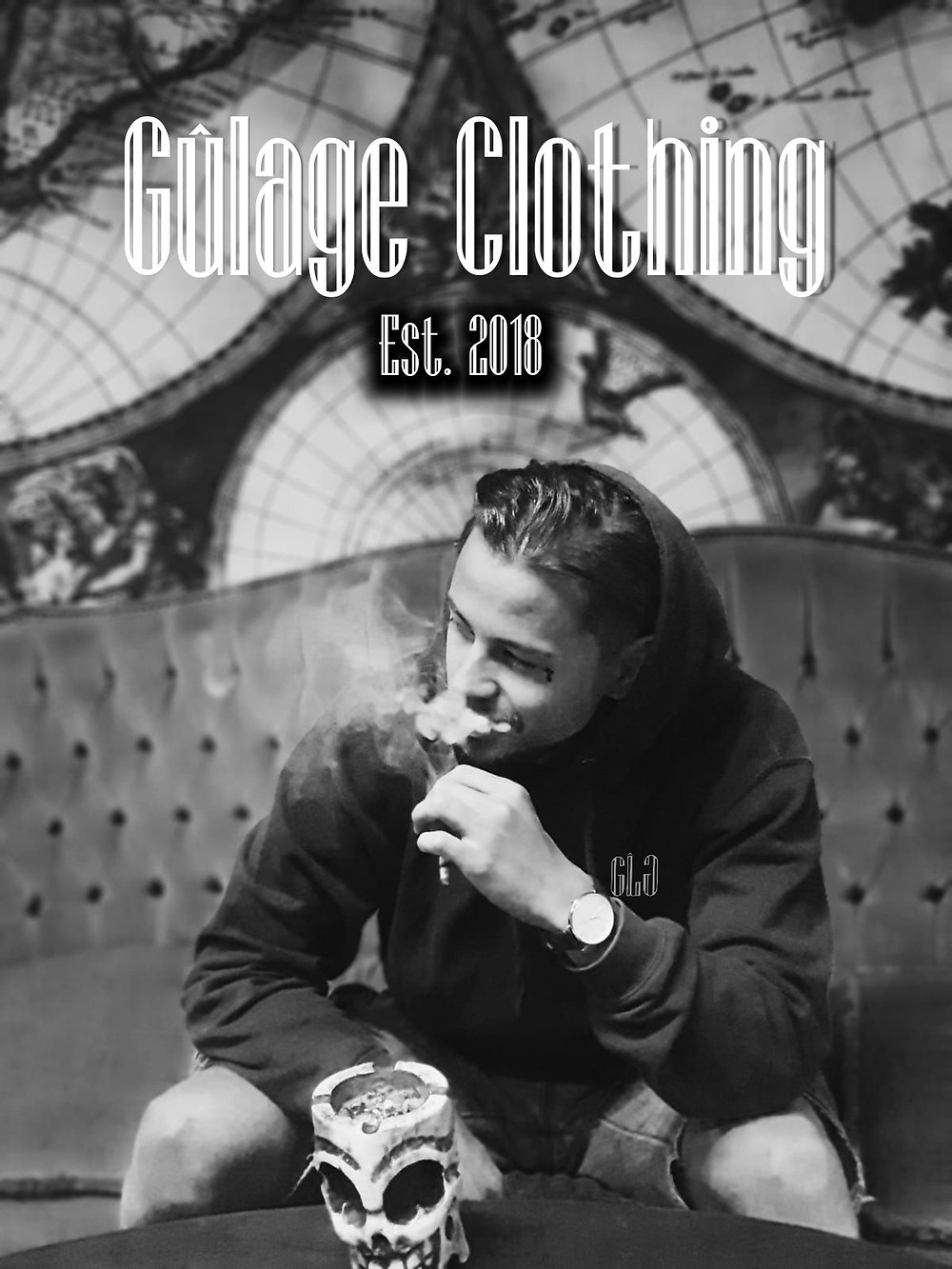 Smoking in our Gulage Clothing Hoodie