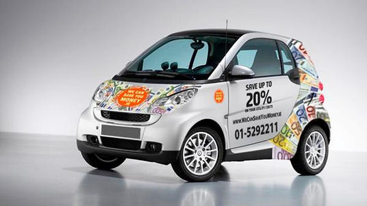 WeCanSaveYouMoney.ie branded Smart Car