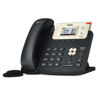 The Yealink T21 IP Phone System with crystal clear sound, large display and keypad