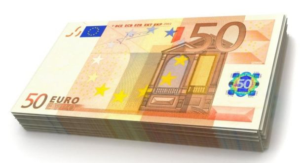 Stack of €50 notes
