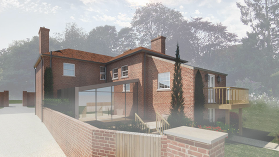 CONTEMPORARY EXTENSION TO LOCALLY LISTED FARMHOUSE
