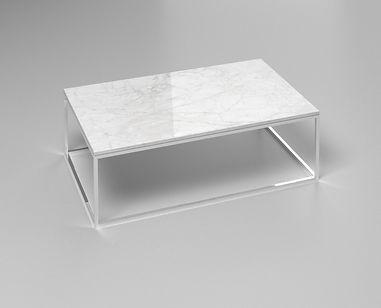 Stolek White Carrara