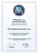 BPW certifikát D1 nonstop