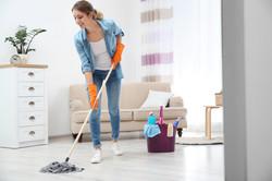 Reinigung der Wohnräume
