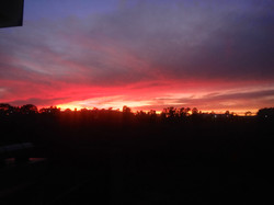 Sunset from the lab