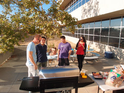 BBQ party in the lab yard