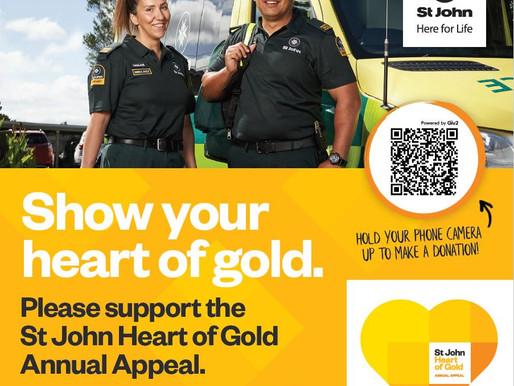 Heart of Gold - St John & ASB