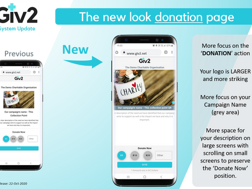New donation page and better first-time user experience