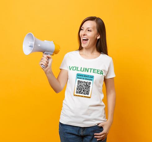 Volunteer with QR code on Tshirt.png