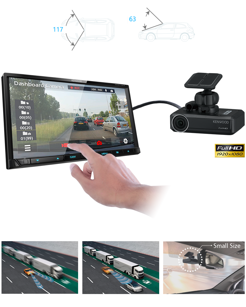 Dash Cams integrated & stand alone