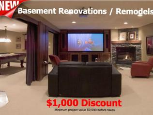 Fall Special - Basement Renovation / Remodel