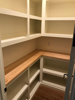 Pantry with Butcher Block