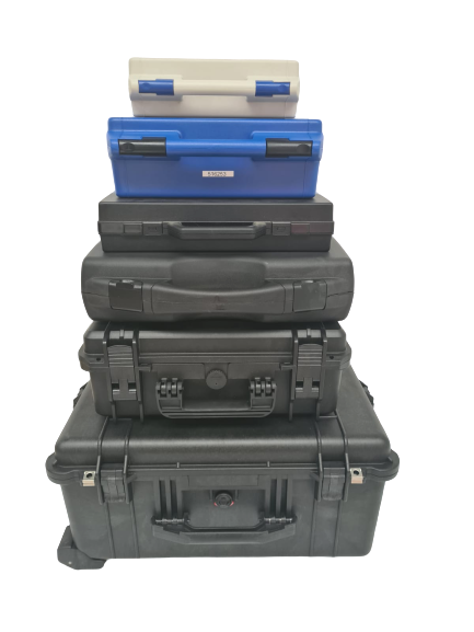 A selection of carry cases in different sizes