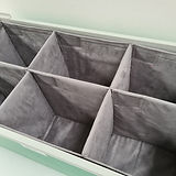 Liscio Fabric container box with dividers