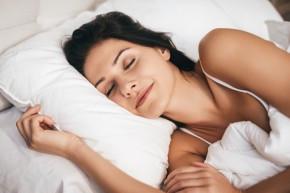 woman sleeping on a comfortable pillow